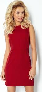 Czerwona sukienka NUMOCO bez rękawów dopasowana
