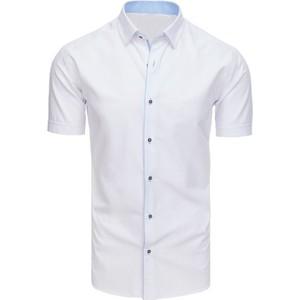 0563dc4ad99546 Koszula męska z krótkim rękawem cd24 - biały