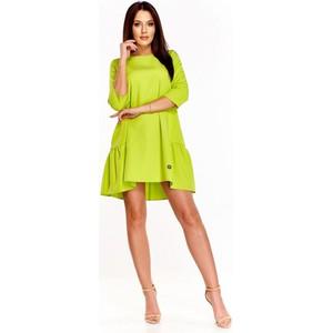6719a4f566 Zielone sukienki z falbankami