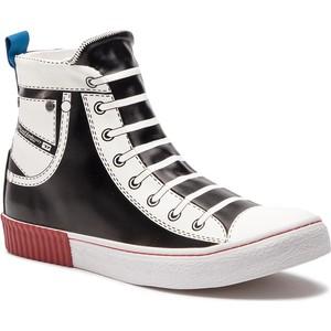 b1bc0c1f077b0 Czarne buty męskie sznurowane Diesel, kolekcja wiosna 2019