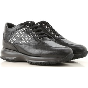 c74d4bd800ff54 Czarne buty sportowe Hogan, kolekcja zima 2019