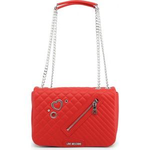 3dd62f5fea644 Czerwone torebki glamour Love Moschino