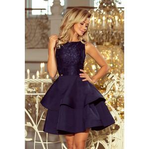f2f43a2321 Niebieskie sukienki z falbankami