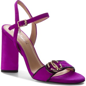 9591895206a9e Fioletowe sandały ze skóry, kolekcja zima 2018