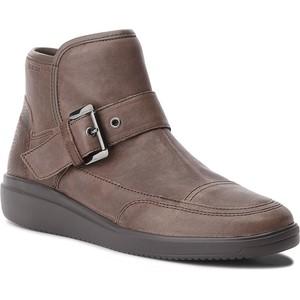 6d28b40808755 Brązowe buty damskie z klamrami Geox, kolekcja jesień 2018