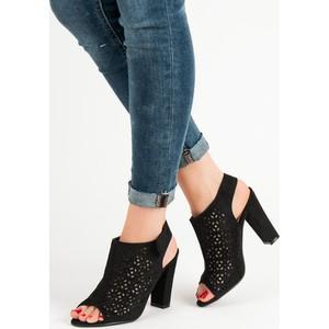 3b9058738f1b7 Czarne buty damskie na rzepy, kolekcja wiosna 2019